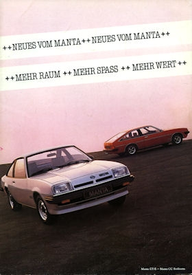 Opel Manta / Manta CC Prospekt 1980