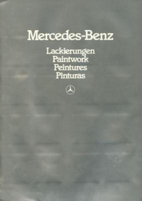 Mercedes-Benz Farben Prospekt 6.1982