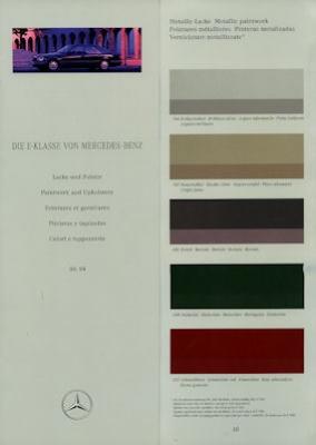 Mercedes-Benz E-Klasse Farben 6.1994