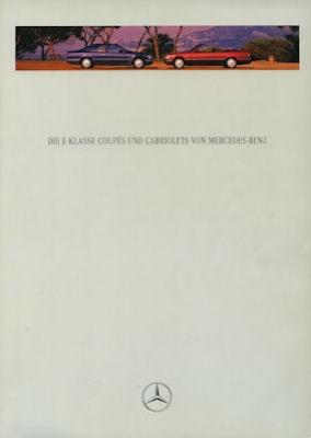 Mercedes-Benz E-Klasse Coupés und Cabriolets Prospekt 1995