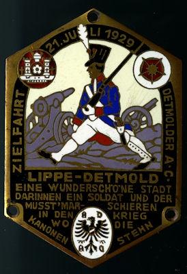 Plakette Lippe-Detmold 21.7.1929