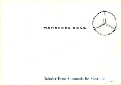 Mercedes-Benz Automatisches Getriebe Prospekt 6.1965