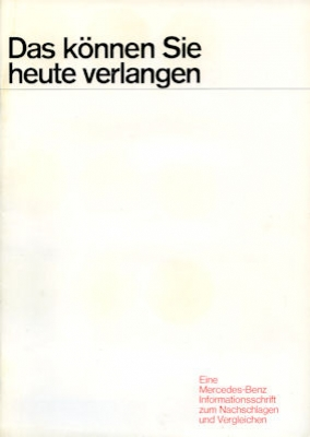 Mercedes-Benz Programm 5.1969