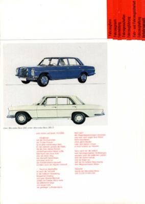 Mercedes-Benz Programm 5.1969 1