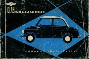 Glas Goggomobil Kundendienstheft 1961