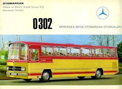 Mercedes-Benz Bus O 302 Prospekt ca. 1964 tk