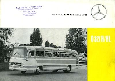 Mercedes-Benz O 321 H/HL Prospekt 1962