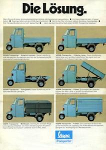 Vespa Transporter Prospekt 1970er Jahre