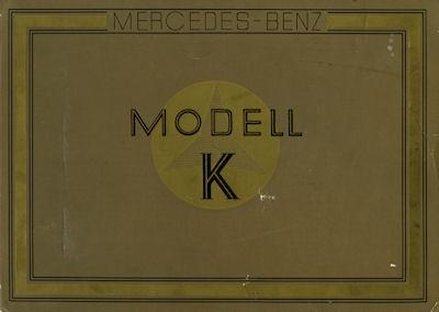 Mercedes-Benz Modell K Prospekt ca. 1926