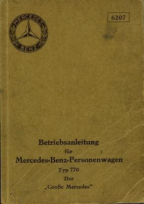 Mercedes-Benz Typ 770 Bedienungsanleitung 6.1931
