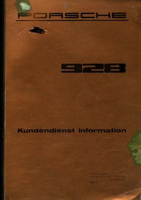 Porsche 928 Kundendienst Information 1979 Band 1