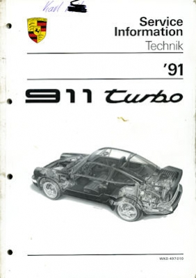 Porsche 911 Turbo Kundendienst Information Modell 1991