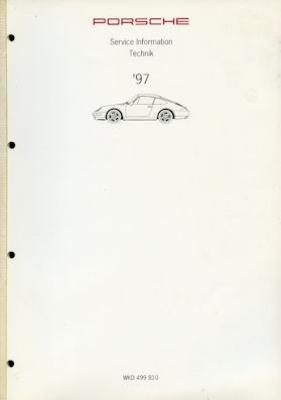 Porsche 911 Carrera 4 Turbo Kundendienst Information Modell 1997