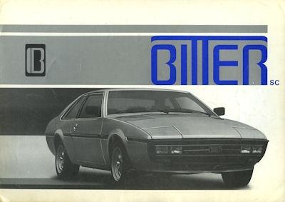 Bitter SC Prospekt ca. 1980