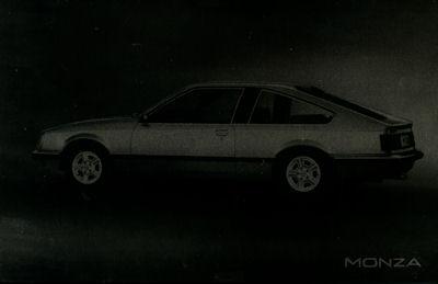 Opel Monza Werbeplatte ca. 1980