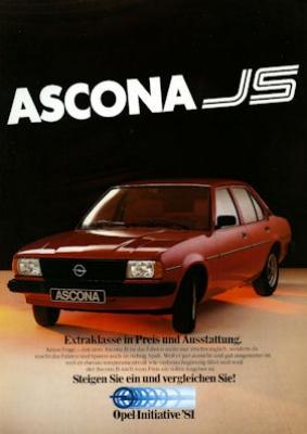 Opel Ascona JS Prospekt 1981