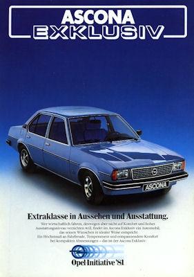 Opel Ascona Exklusiv Prospekt 1981