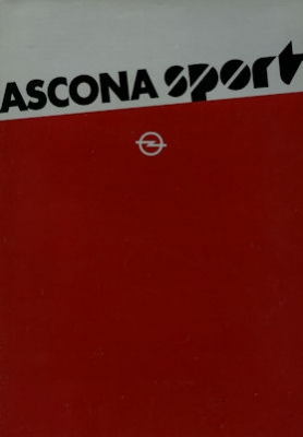 Opel Ascona Sport Prospekt 1981