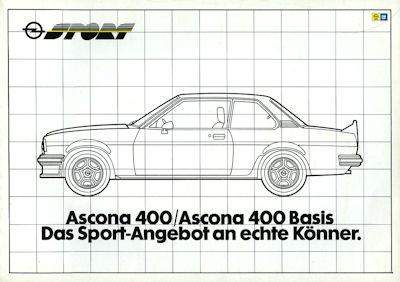 Opel Ascona 400 Prospekt 1981