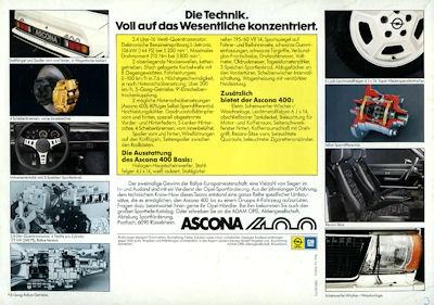 Opel Ascona 400 Prospekt 1981 1