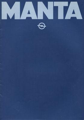 Opel Manta Prospekt 1981