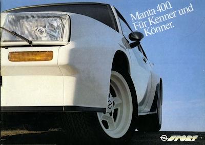 Opel Manta 400 Prospekt 1982