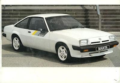 Opel Manta 400 Prospekt 1982 1