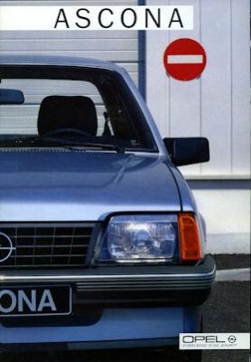 Opel Ascona Prospekt 1985