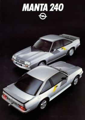Opel Manta 240 Irmscher Prospekt 1984