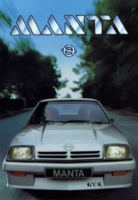 Opel Manta GTE Prospekt 1984