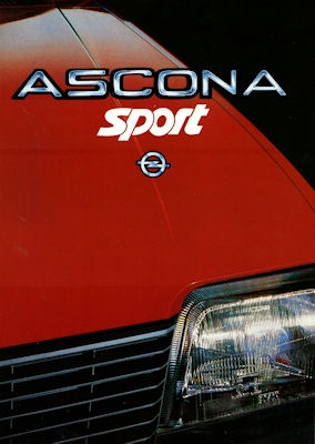 Opel Ascona Sport Prospekt 1984