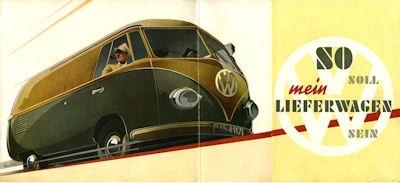 VW Bus Prospekt ca. 1951