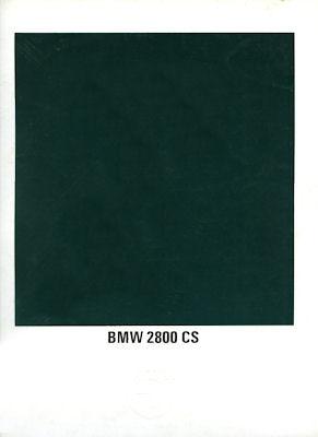 BMW 2800 CS Prospekt 12.1969 e