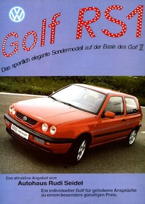 VW Golf III RS 1 Prospekt ca. 1994