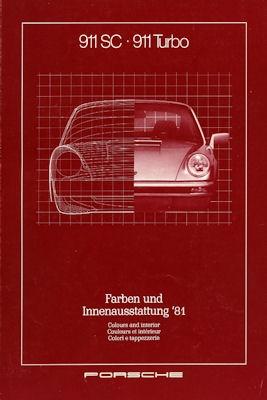Porsche 911 Farben 1981