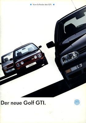 VW Golf III GTI Prospekt 1992