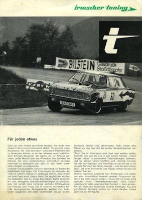 Opel Irmscher Prospekt 1972