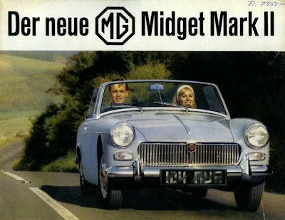 MG Midget Mark II Prospekt 1964