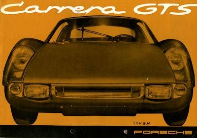 Porsche Carrera GTS (904) Prospekt 6.1964