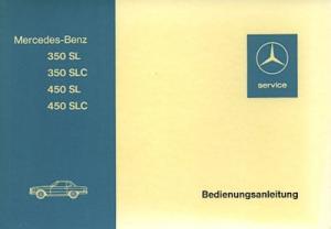 Mercedes-Benz 350 450 SL SLC Bedienungsanleitung 10.1973
