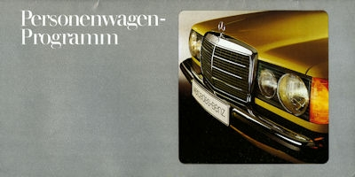 Mercedes-Benz Programm 1978
