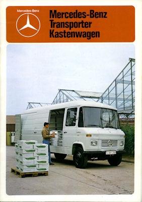 Mercedes-Benz Transporter Kastenwagen Prospekt 1978