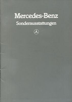 Mercedes-Benz Sonderausstattung Prospekt 1986