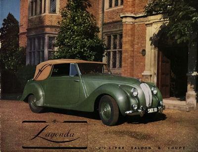 Lagonga 2,5 Liter Saloon & Coupe Prospekt ca. 1950