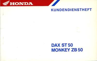 Honda Kundendienstheft Dax / Monkey 1988