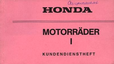 Honda Kundendienstheft typenunabhängig 1980er Jahre