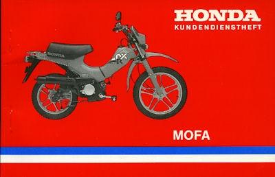 Honda Kundendienstheft Mofa 1980er Jahre