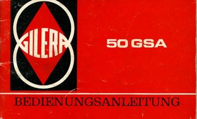 Gilera 50 GSA Roller Bedienungsanleitung 1983