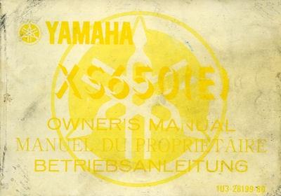 Yamaha XS 650 E Bedienungsanleitung 1980