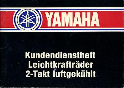 Yamaha Kundendienstheft 1984